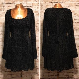 Vintage 1990s GAP Velvet Burnout Babydoll Dress
